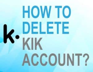 Feature image for how to delete KIK account
