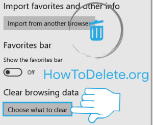 Microsoft edge choose what to clear