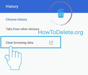 Chrome clear browsing history option