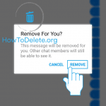 Facebook message delete confirmation
