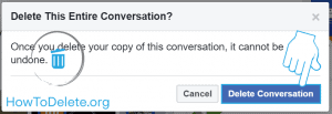 facebook entire conversation delete confirmation