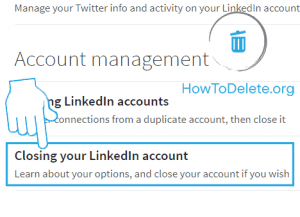 Linkedin permanently delete account