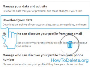 Linked in download your data