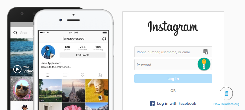 Log in to Instagram