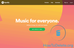 Spotify homepage