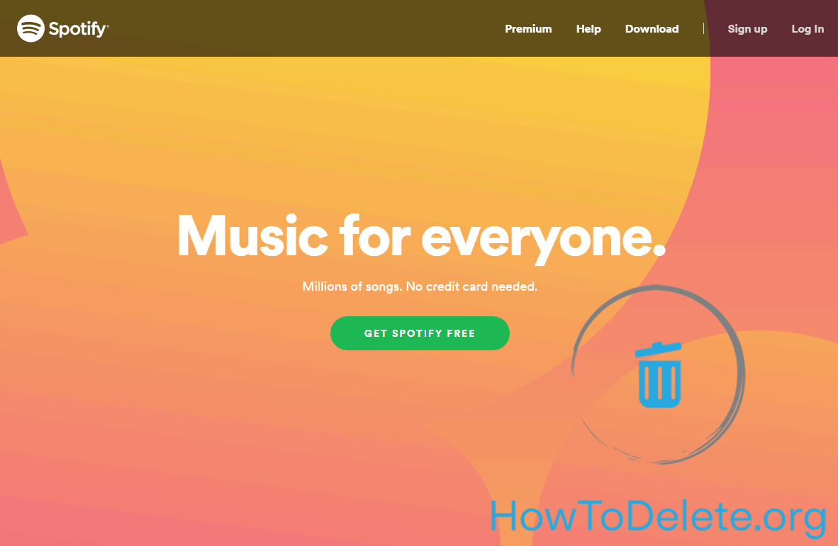 How to Delete Spotify account and cancel the premium subscription