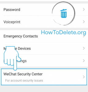 wechat security center