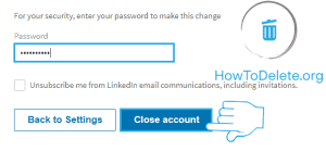 Linkedin permanently delete confirmation