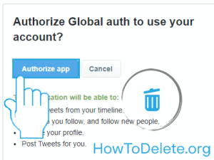 Authorize tweetdeleter