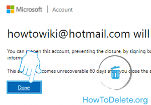 Microsoft account delete confirmation