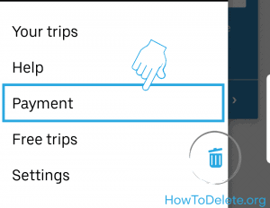 Uber mobile payment option
