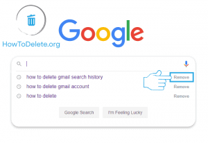 google search history delete through google search bar