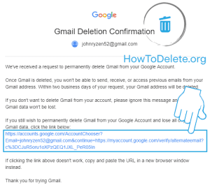 email verification like for gmail delete
