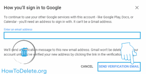 email verification for gmail delete