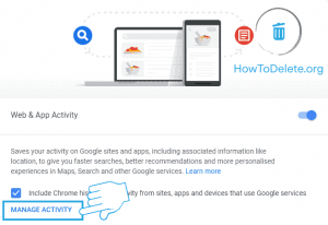 activity manage to clear google history