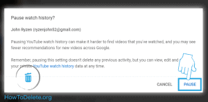 youtube confirm pause history