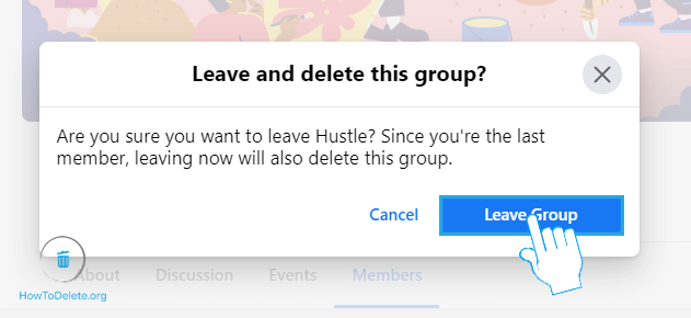 Confirm Leave Group
