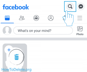 facebook mobile clear search history