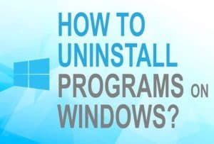 Feature image for how to uninstall Windows program