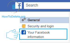 facebook information option to deactivate facebook