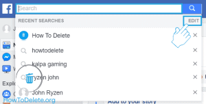 clear facebook search history pc