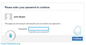 verify password for facebook deactivate