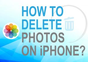 Delete photos from iPhone