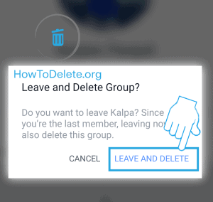 facebook mobile group delete confirmation
