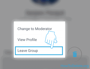 delete facebook group from mobile