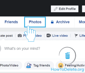 remove facebook photo permanently