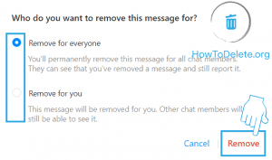 remove photo on facebook message