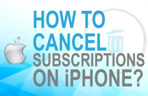 Cancel subscription on iPhone