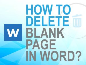 delete blank page in word