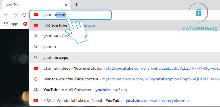 Navigate to Youtube