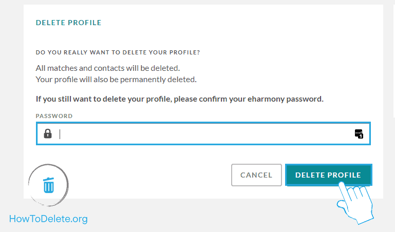 enter your password to confirm