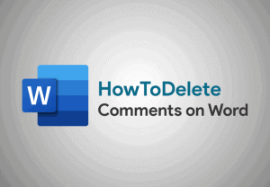how to delete comments on word