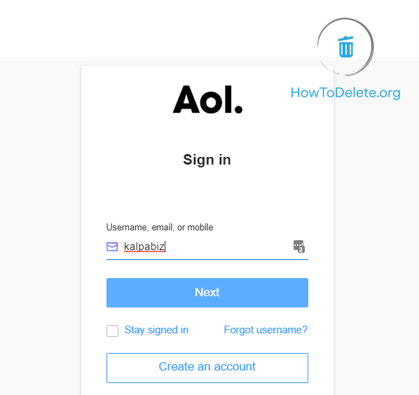 sign in to AOL