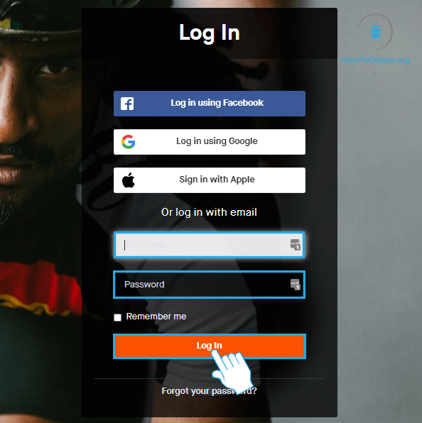 Log in to Strava