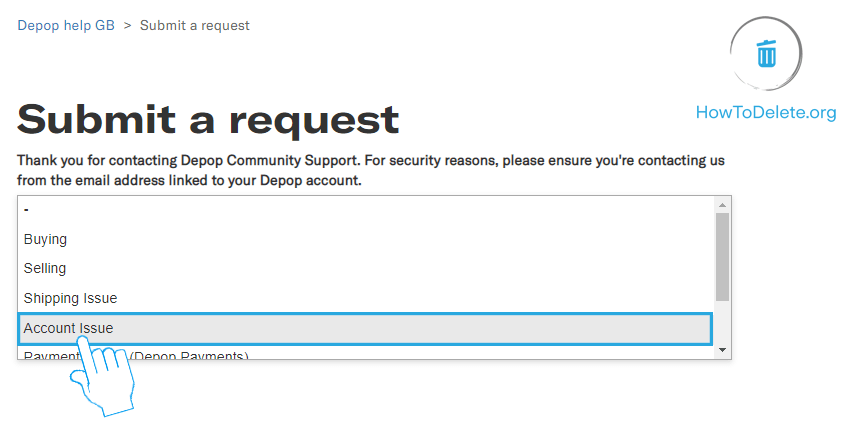 Select Account Issue