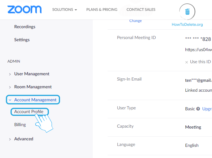 Select Account Profile