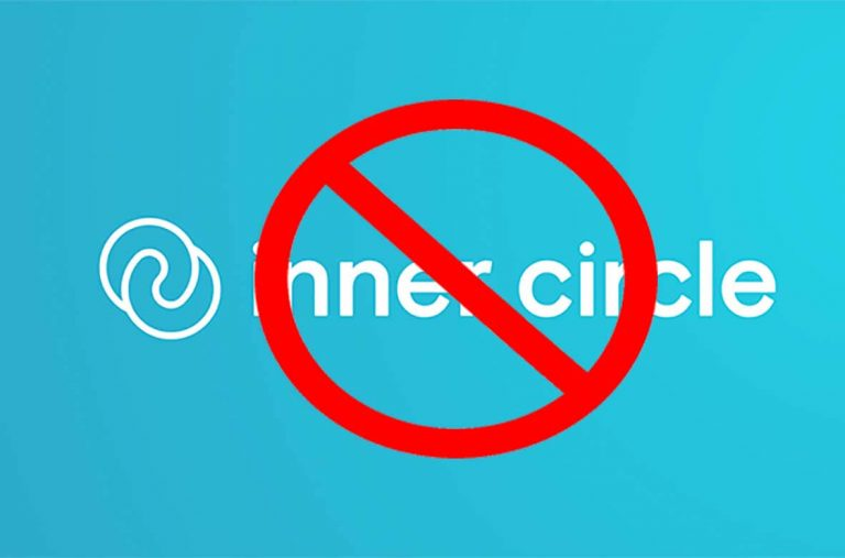 how to delete inner circle account