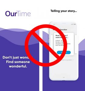 delete ourtime dating profile